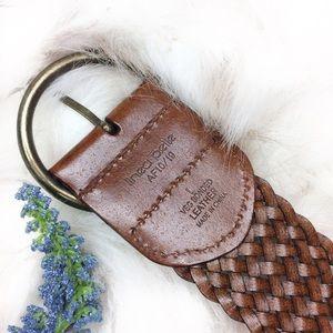 Anthropologie Linea Pelle Veg Bonded Leather Belt